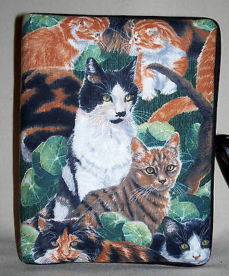 """Calico Cats Kittens Handcrafted Handmade Photo Album Holds 80 4""""X6"""" NEW"""