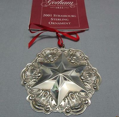 Gorham Sterling Silver Christmas Ornament Snowflake 2001 Box Pouch