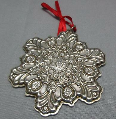 Towle Sterling Silver Christmas Ornament Old Master Snowflake 1995 Pouch