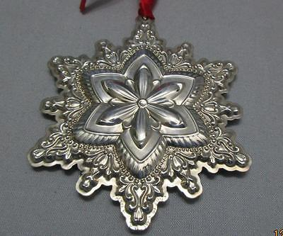 Towle Sterling Silver Christmas Ornament Old Master Snowflake 2007 Box