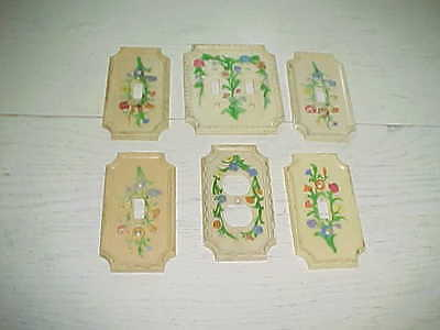 Lot American Tack Vintage Switch Outlet Plug Covers Electrical Plastic Deco 1967