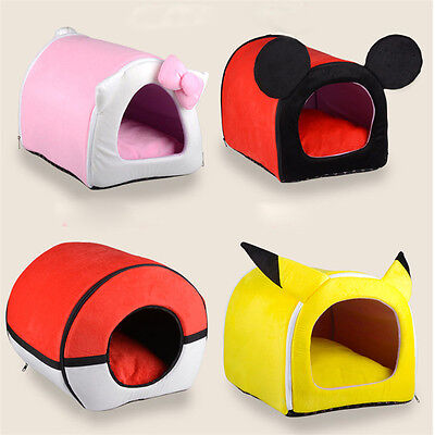 Cute Cartoon Puppy Kitten Indoor House Pet Dog Mat Warm Bed Cushion Small Large