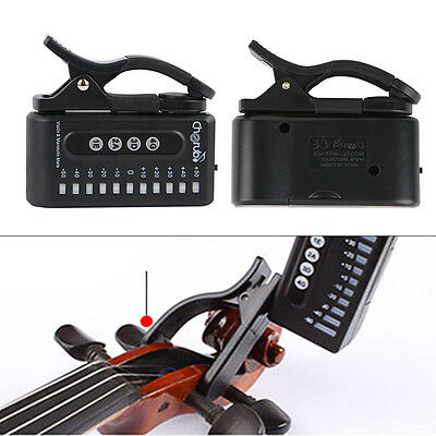 Chromatic Tuner Electronic Clip-On For Violin Mandolin Tuner WST-550VM Black New