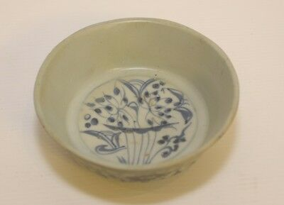 MING CHINESE PORCELAIN BLUE & WHITE BOWL EARLY MING PERIOD 1600's