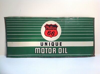 Flattened Unrolled Vintage Phillips 66 Unique Can Quart Motor Oil Gas metal tin