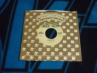 "KISS 1978 Gene Simmons ""Radioactive"" US Casablanca 45 Single! NICE!"