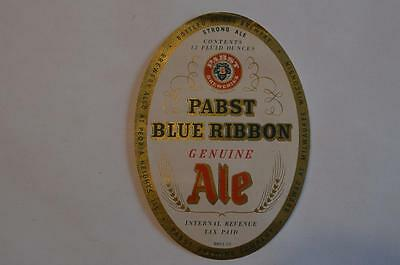 Pabst Blue Ribbon Genuine Ale IRTP  Milwaukee WI Beer Label