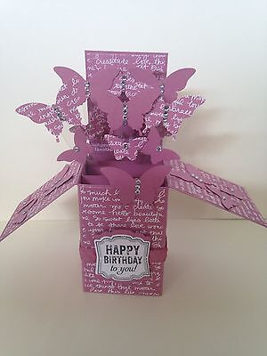 Stampin Up Happy Birthday Card in a box Butterflies New & Seal + Envelope