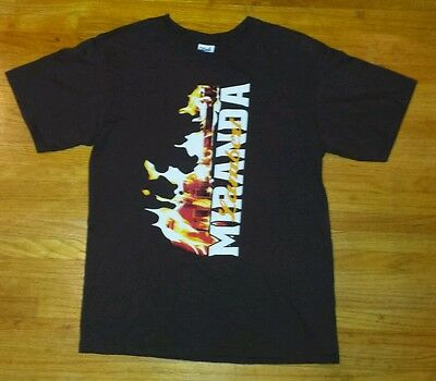 Miranda Lambert On Fire 2012 Tour Double Sided Tshirt,Brown, Size Medium