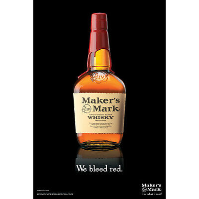 Makers Mark We Bleed Red Poster 24 By 36  New