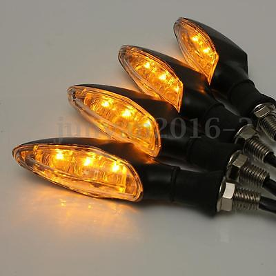 4x 12V Amber Universal Motorcycle Motorbike LED Turn Signal Indicator Light Lamp