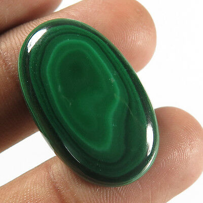 Classic Natural 29x18 mm MALACHITE Oval Cabochon Gemstone 38.30 Cts For Necklace