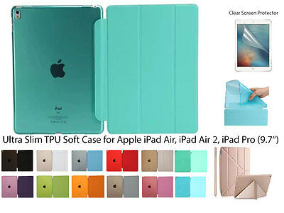 """For iPad Air/Air 2/iPad Pro(9.7"""") Screen Protector/ Magnetic Soft TPU Cover Case"""