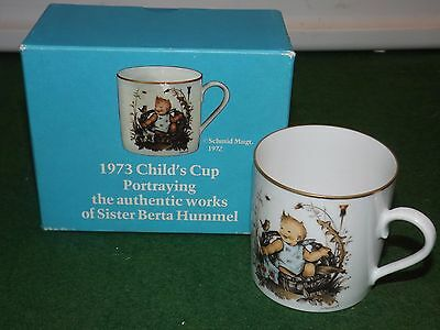 schmid 1973 hummel cup child cup in box 1 st edition pottery cup clean