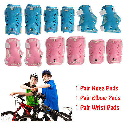 6Pcs Kids Roller Skate Cycling Skating Knee Elbow Wrist Protective Gear Pads Set