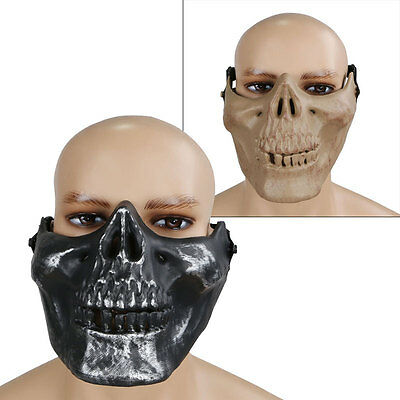Army Tactical Protect Airsoft Game Skull Strike Paintball Hunting Half Face Mask