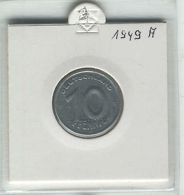 J Coins E09 Germany 1949 Value 10 Pfennig