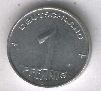 J Coins D64 Germany 1952 Value 1 Pfennig Deutscher