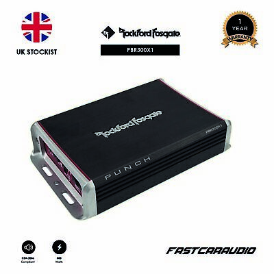 Rockford Fosgate Punch PBR300X1 - 300 Watt BRT Mono Amplifier