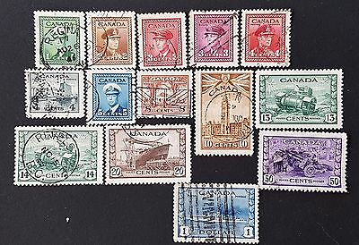 Canada Sg # 375 to Sg # 388 Used Stamps Set Collection CV £ 32.00