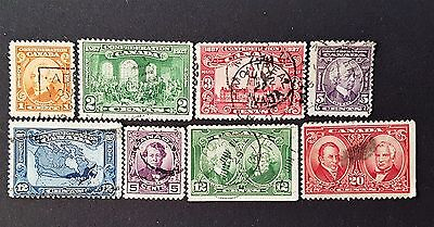 Canada Sg # 266 to Sg # 273 Used Stamp Collection Lot CV £ 35.00