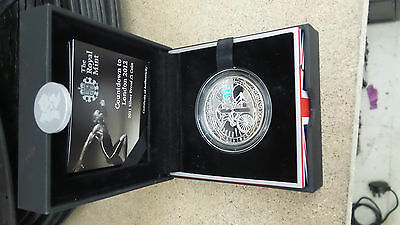Royal Mint Countdown to London 2012 £5 2010 Silver Proof Coin COA Boxed