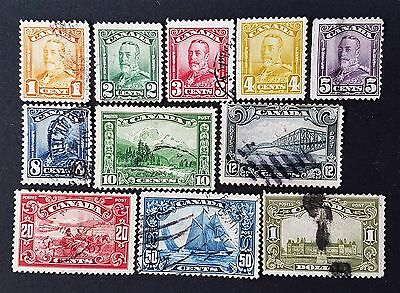 Canada 1928 to 1929 Sg # 275 to Sg # 285 Used Stamp Collection Lot CV £ 200.00