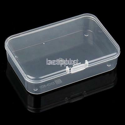 2X Small Clear Plastic With Lid Storage Box Jewelry Collection Container Case