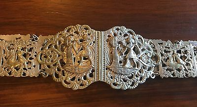 ANTIQUE English Silver Plated Nurses Belt Good Useable Condition - 75cm Long