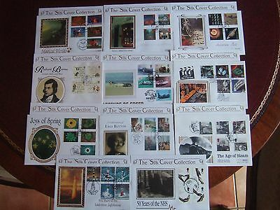 GREAT BRITAIN  11 x QUALITY MERCURY SILK LTD EDITION FIRST DAY COVERS 1994-1999