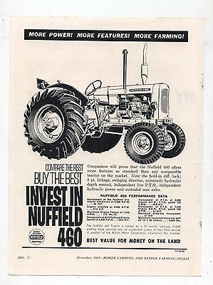 Nuffield 460 Tractor Advertisement removed from 1963 Australian Farming Magazine