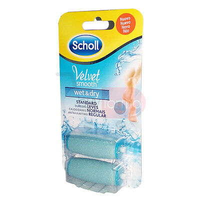 SCHOLL VELVET SMOOTH WET AND DRY - 2x Ricariche Standard - WATER RESISTENT