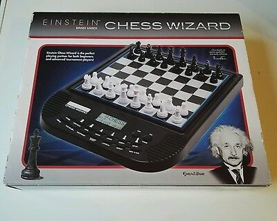 RARE NEW BOXED Excalibur Games Electronic Einstein Chess Wizard 100% COMPLETE