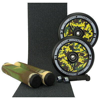 Root Ind AIR 110mm Camo Scooter Wheels + Camo Grips + Tape + Bonus Axles
