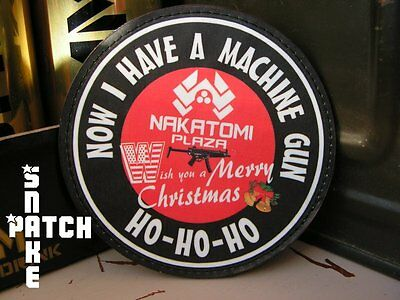 Patch Velcro ..:: NAKATOMI PLAZA ::.. die hard MERRY CHRISTMAS machine gun