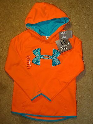 Girls SMALL Under Armour STORM1 Orange Hoodie 1259839-831 NWT $45