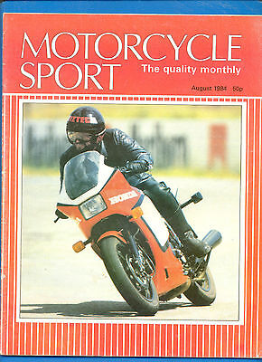 Motorcycle Sport Magazine.august 1984