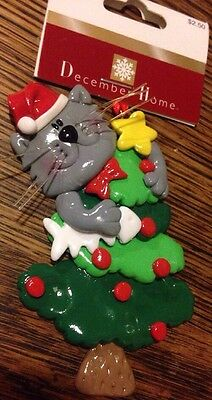 December Home Christmas Ornament  Cat  Tree Fish New