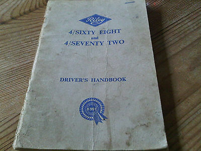 Riley 4/68 4/72 4 Sixty Eight Seventy Two  Driver's Manual  Owners Handbook