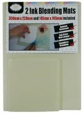 STAMPS AWAY Collection 2 INK BLENDING MATS 300 x 200 145 x 145 SOLVENT RESISTANT