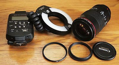Canon EF 100mm f/2.8L Macro IS USM Lens & Canon MR14 EX Ring Lite