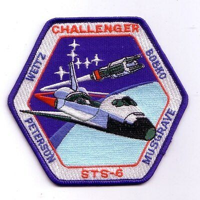STS-6 space shuttle mission patch - modern