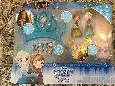 Disney Frozen Coronation Nail Creations Brand New Lovely elsa anna olaf Gift uk