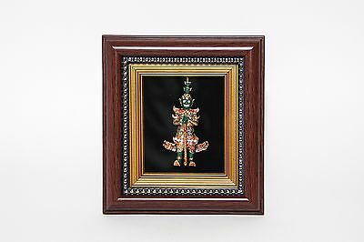 Handmade Ramakien Tos-sa-kan giant character sculpture in wood frame home decor