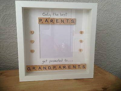 Scrabble art Frame Only the best Parents get promoted to Grandparents