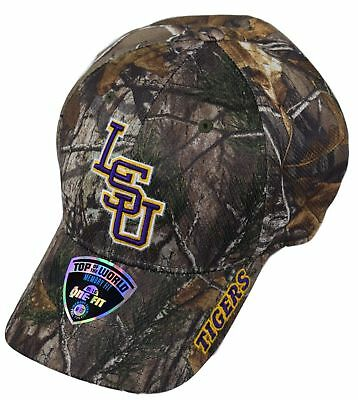 NCAA Louisiana LSU Tigers Top of the World Memory Fit Adult Cap Hat Realtree