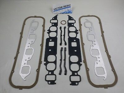 Intake Exhaust Manifold Valve Cover Gaskets for BBC Chevy 366 396 427 454 OVAL