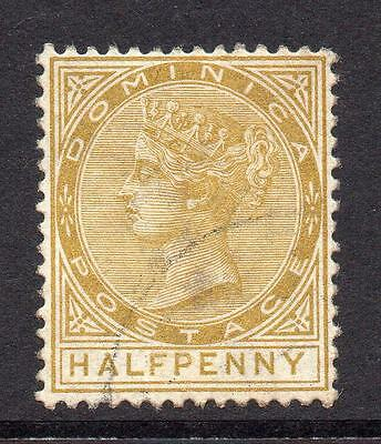 Dominica 1/2 Penny Stamp c1883-86 Used SG13