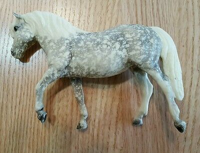 Vintage Breyer Pony White Pearlescent with Gray/Silver Speckles! Nice Horse!