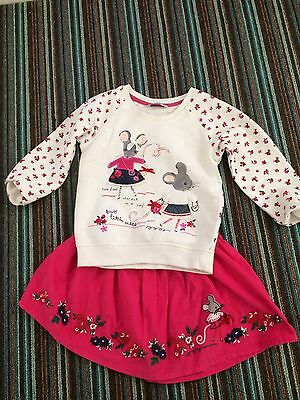 Pretty Mouse Jumper And Matching Skirt Age 4-5